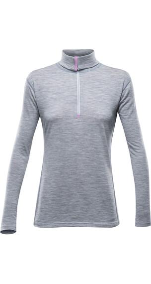 Devold W's Breeze Zip Shirt Greymelange